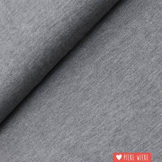 Bamboe tricot uni Donker grijs gemêlleerd