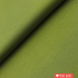 Bamboe tricot uni Olijf groen