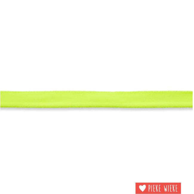 Elastische paspel fluo geel