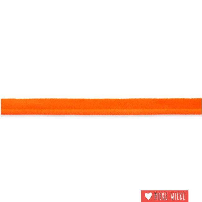 Elastische paspel fluo oranje