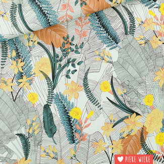 See You at Six Viscose Rayon Tropic flowers