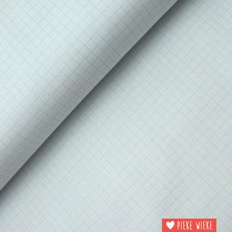 Windham Fabrics Katoen fijne ruitjes lichtblauw