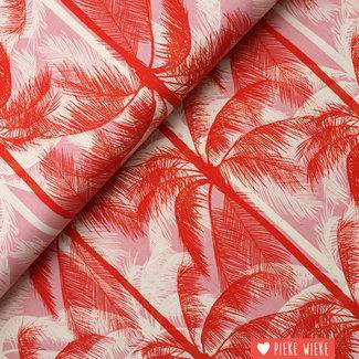 Cotton + Steel Katoen Poolside rood