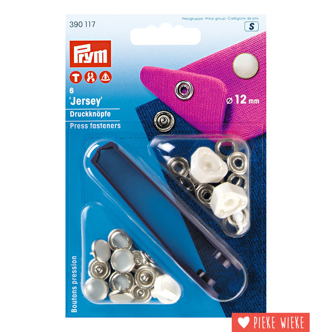 Prym Jersey snaps 12mm pearl