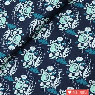 Cloud 9 Katoen Poppy turquoise