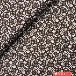 Cotton Elemental waves Brown