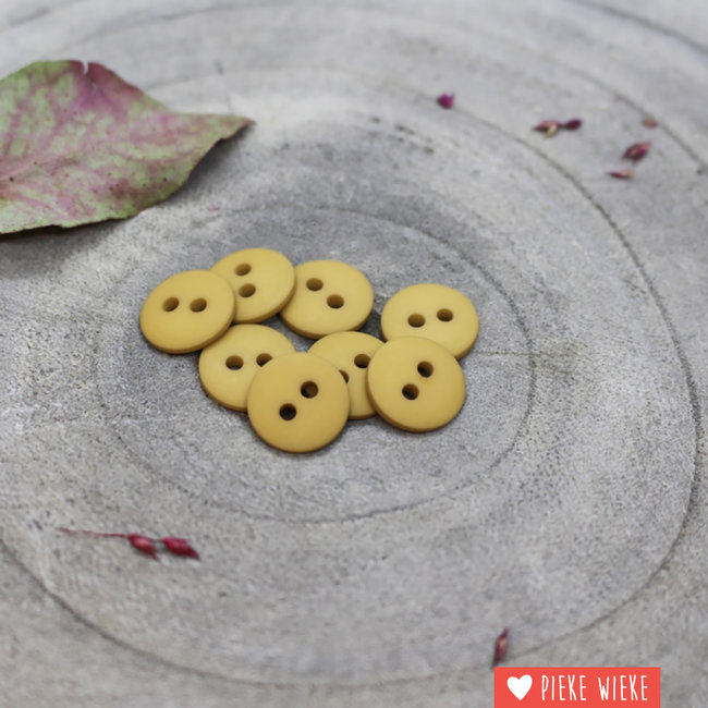 Atelier Brunette Knoop Clasic mat 12mm Mustard