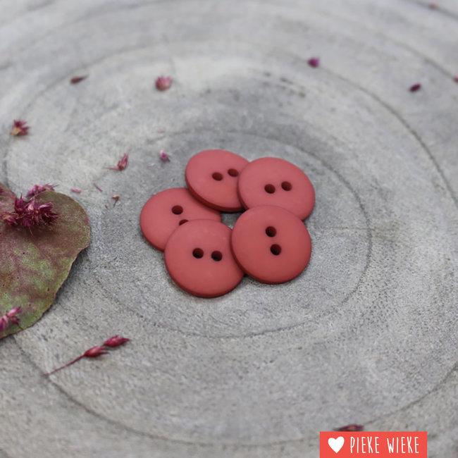Atelier Brunette Button Clasic mat 15mm Terracotta