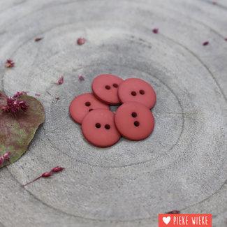 Atelier Brunette Button Clasic mat 15mm Chestnut