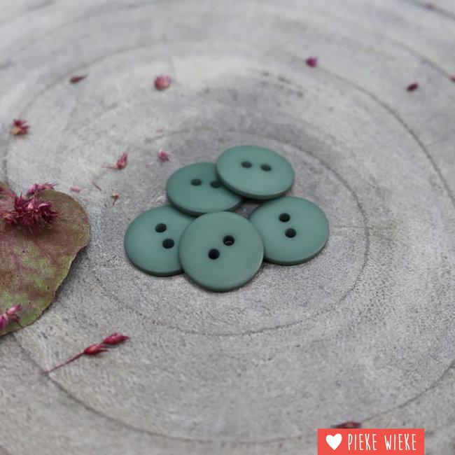 Atelier Brunette Button Clasic mat 15mm Cactus