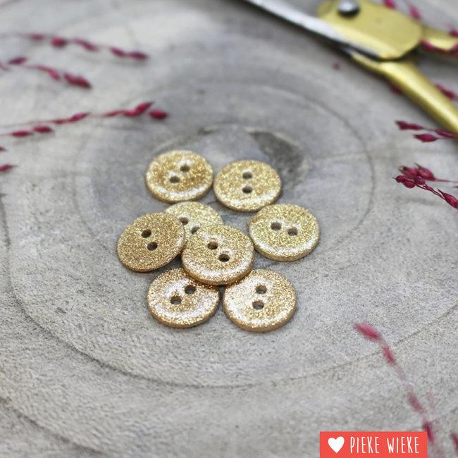 Atelier Brunette Button Glitter 12mm Off White