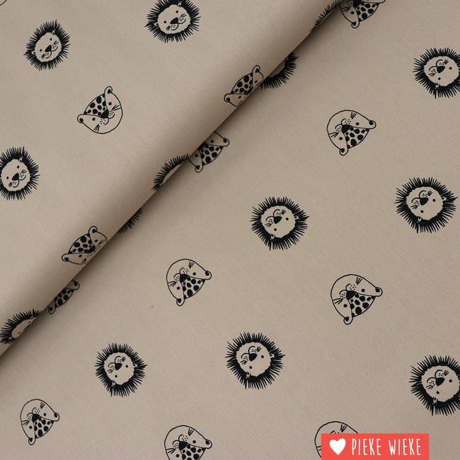 Organic cotton Happy friends Taupe