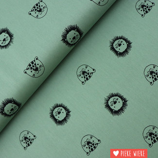 Organic cotton Happy friends Old green