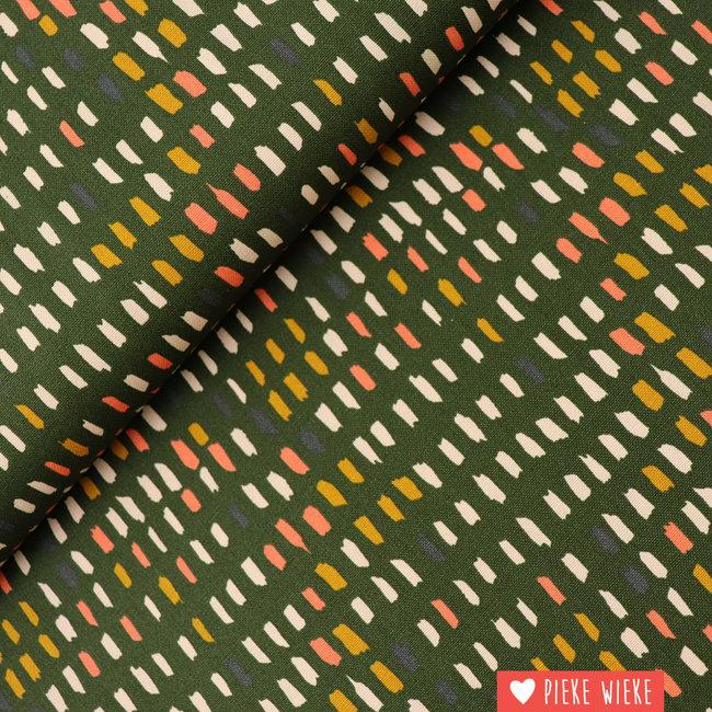 Canvas Paint pallet Groen
