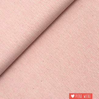 Canvas geweven jacquard roze
