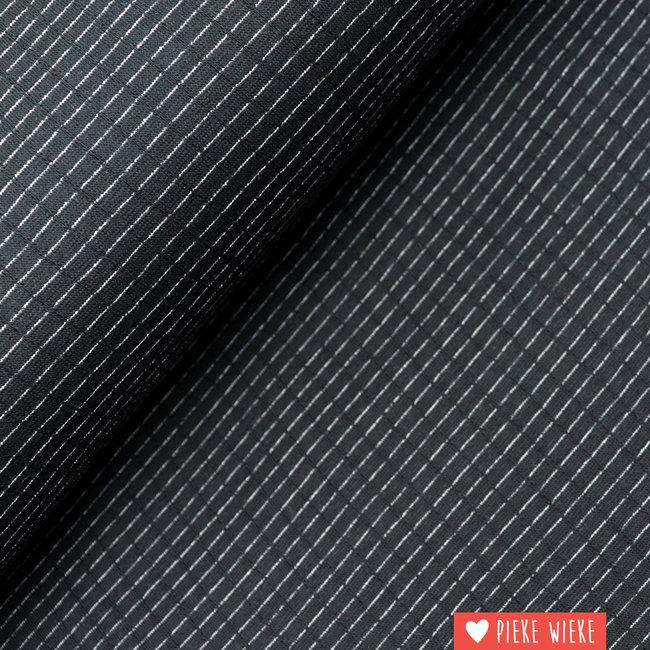 Double gauze tricot Zwart