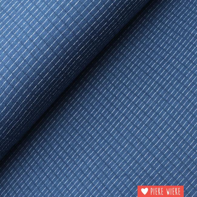 Double gauze  Navy knit