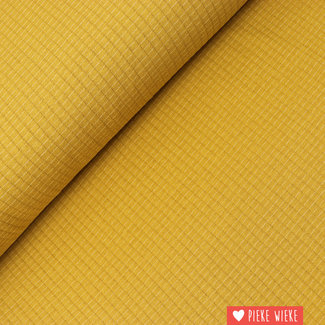 Double gauze jersey Ochre yellow