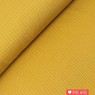 Double gauze tricot Oker geel