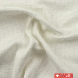 Double gauze tricot Gebroken wit