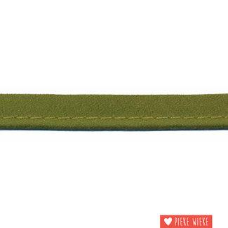 Paspel fijn 2mm Legergroen