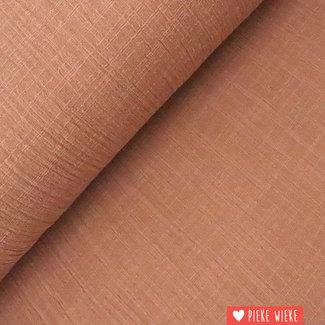 Cotton washed linen look mocha mousse