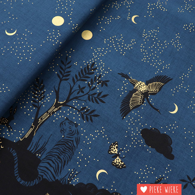 Ruby Star Society Cotton Tiger fly Midnight