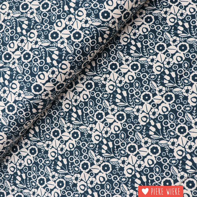 Cotton + Steel Katoen Adele Blue