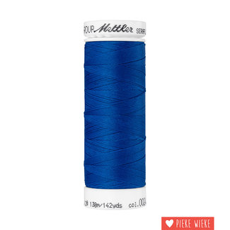 Amann Mettler Seraflex elastisch garen 130m / 0024 Kobalt blauw