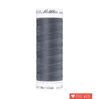 Amann Mettler Seraflex elastisch garen 130m / 0415 Donker grijs