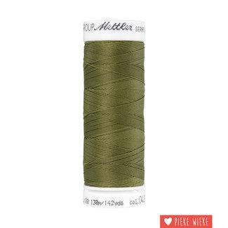 Amann Seraflex elastisch garen 130m / 0420 Olijf groen