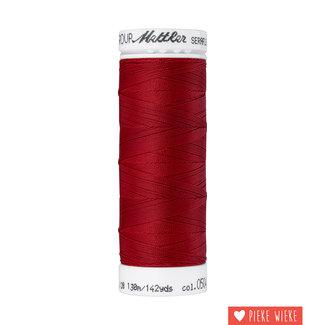 Amann Mettler Seraflex elastisch garen 130m / 0504 Donker rood