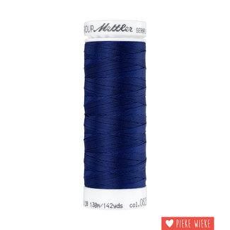 Amann Seraflex elastisch garen 130m / 0825 Donker blauw