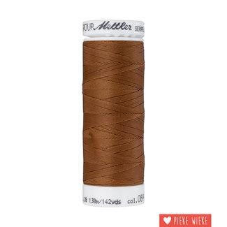 Amann Seraflex elastic yarn 130m / 0899 Cognac