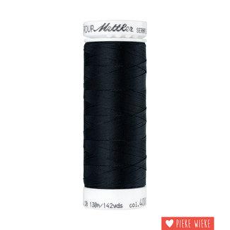 Amann Mettler Seraflex elastisch garen 130m / 4000 Zwart