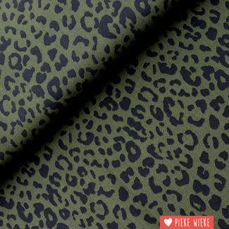 Viscose Leopard Kaki