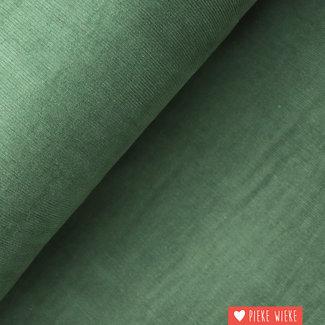 Ribfluweel fijn donker groen