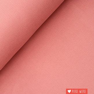 Ribfluweel fijn roze