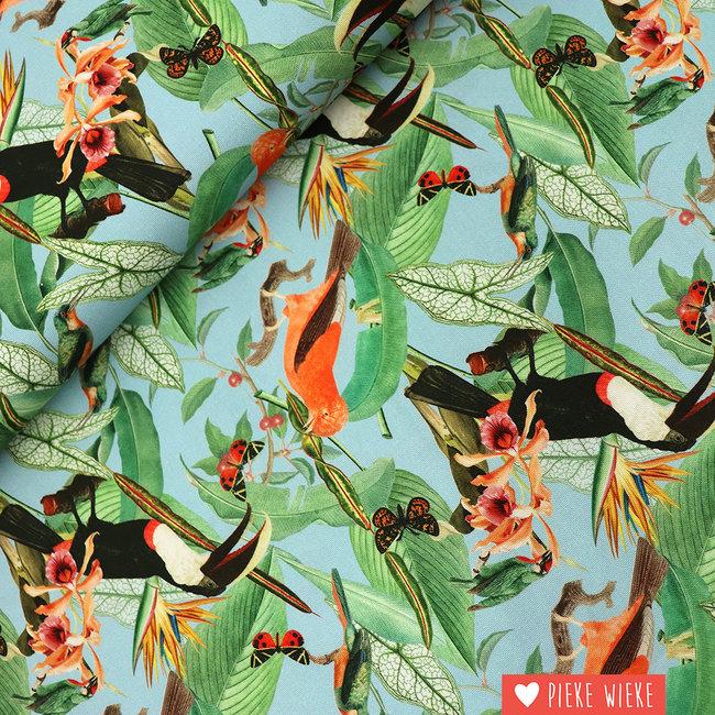 Poppy Canvas Jungle journey Blauw