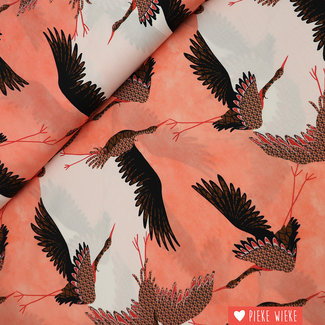 Fibre Mood Viscose Cranes Pink