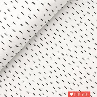 Poppy Jersey GOTS Stripe dots Wit