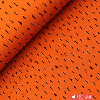 Poppy Tricot GOTS Stripe dots Rust