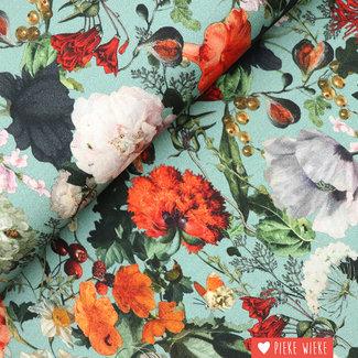 Viscose jersey Digital bouquet