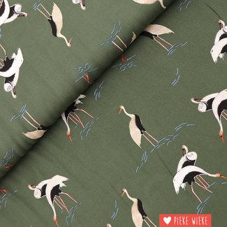 Viscose Egret green