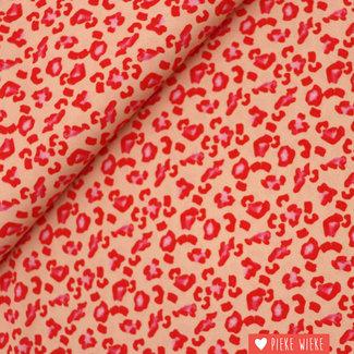 Viscose crepe Leopard fun Pink