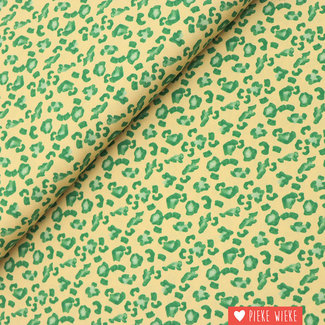 Viscose crêpe Leopard fun Green