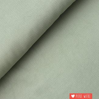 Ribfluweel fijn Oud mint