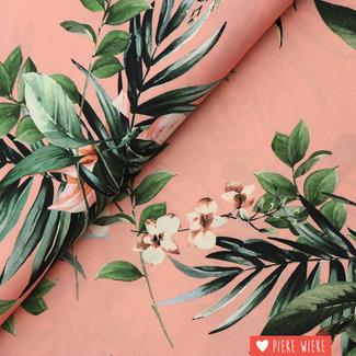 Viscose bloemen Roze
