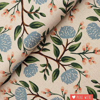 Cotton + Steel Canvas Wildwood Peonies Cream
