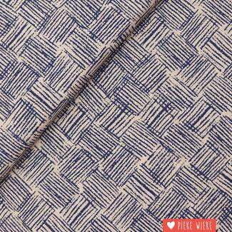 Canvas Linenlook Scratches blue